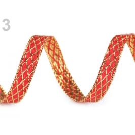 Stuha s lurexom šírka 10 mm červená 18m Stoklasa