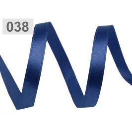 Atlasová stuha šírka 6 mm modrá capri 22.5m Stoklasa