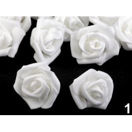 Dekorácia penová ruža Ø4 cm biela 10ks Stoklasa
