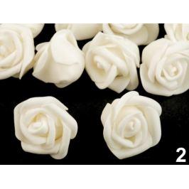 Dekorácia penová ruža Ø4 cm krémová najsvetl 10ks Stoklasa