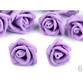 Dekorácia penová ruža Ø4 cm fialová lila 10ks Stoklasa
