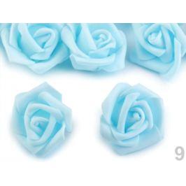 Dekorácia penová ruža Ø4 cm modrá azurová 10ks Stoklasa