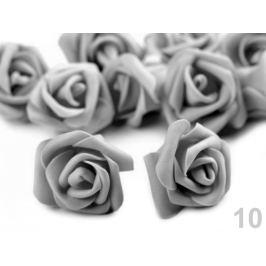 Dekorácia penová ruža Ø4 cm šedá sv 10ks Stoklasa