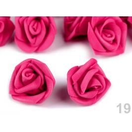 Dekorácia penová ruža Ø4 cm fialovoružová 10ks Stoklasa