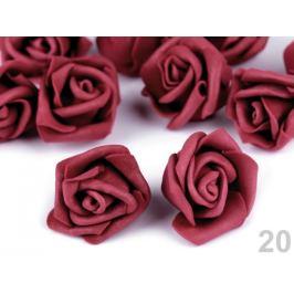 Dekorácia penová ruža Ø4 cm bordó sv. 10ks Stoklasa