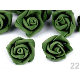 Dekorácia penová ruža Ø4 cm zelená 10ks Stoklasa