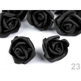 Dekorácia penová ruža Ø4 cm čierna 10ks Stoklasa