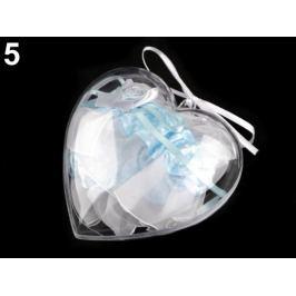 Darčekové balenie podväzok v srdci bielo-modrá 1ks