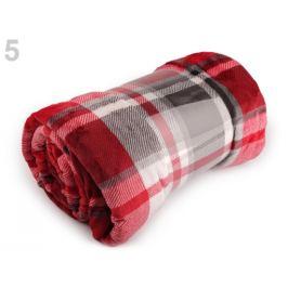 Deka Flannel fleece 150x200 cm červená 1ks