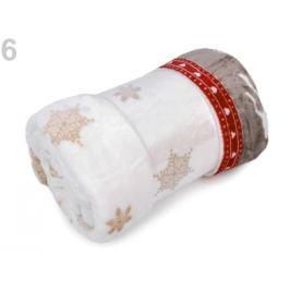 Deka Flannel fleece 150x200 cm červená vianočná  1ks