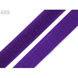 Suchý zips háčik + plyš šírka 20 mm modrofialová 25m