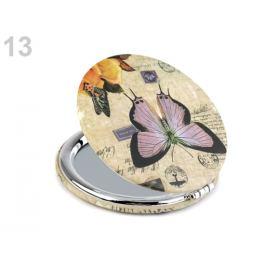 Kozmetické zrkadielko motýľ krémová 1ks Stoklasa
