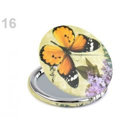 Kozmetické zrkadielko motýľ žltozelená  1ks Stoklasa