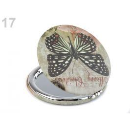 Kozmetické zrkadielko motýľ šedozelená sv. 1ks Stoklasa