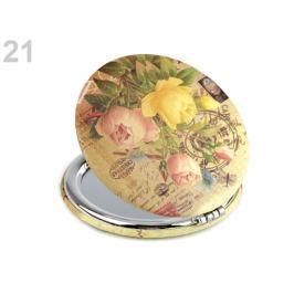 Kozmetické zrkadielko motýľ žltobéžová 1ks Stoklasa
