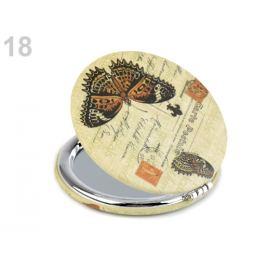 Kozmetické zrkadielko motýľ vanilka 1ks Stoklasa