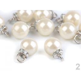Prívesok perla s rondelkou Ø12 mm perlová 2ks Stoklasa