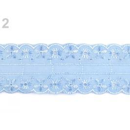 Madeira / vsadka - štykovanie šírka 45 mm modrá nebeská 13.5m Stoklasa