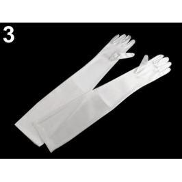 Dlhé spoločenské rukavice saténové biela 1pár