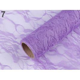 Dekoračná čipka šírka 48 cm fialová sv. 4m Stoklasa