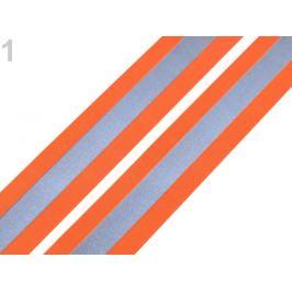 Guma s reflexným pásom šírka 40 mm oranžová   1m Stoklasa