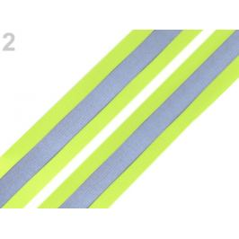 Guma s reflexným pásom šírka 40 mm žltozelená ref. 1m Stoklasa