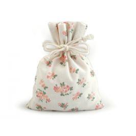 Bavlnené vrecúško s kvetmi 13x18 cm režná svetlá 1ks Stoklasa