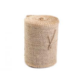 Jutová stuha šírka 10 cm režná príodná 4.5m Stoklasa