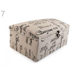 Kazeta / košík na šitie čalunený režná 1ks