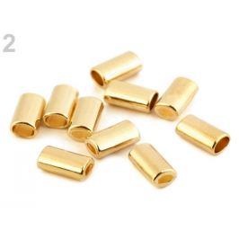 Kovová koncovka 8x14 mm zlato kovová 10ks Stoklasa
