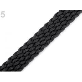 Splietaný popruh na uchá šírka 20 mm čierna 5m Stoklasa