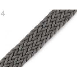 Splietaný popruh šírka 25 mm šedá kalná 1m Stoklasa