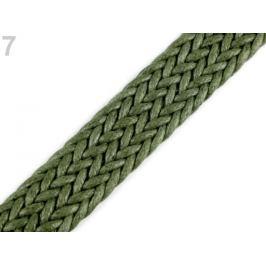 Splietaný popruh šírka 25 mm zelená khaki 1m Stoklasa