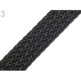 Splietaný popruh šírka 30 mm čierna 1m Stoklasa