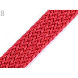 Splietaný popruh šírka 30 mm červená 1m Stoklasa