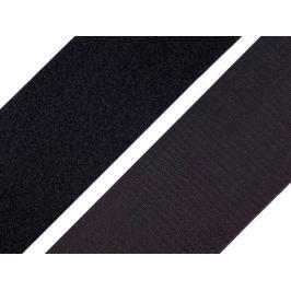 Suchý zips háčik + plyš šírka 10 cm čierny čierna 1m