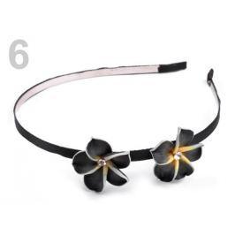 Čelenka kovová do vlasov s kvetmi Fimo čierna 1ks Stoklasa