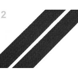 odevná šnúra bavlnená plochá šírka 12-15 mm čierna 10m Stoklasa