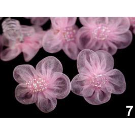 Štipec do vlasov s kvetom ružová sv. 10ks