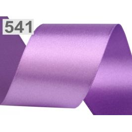 Atlasová stuha obojlíca zväzky po 5 m šírka 50 mm fialová lila 5m