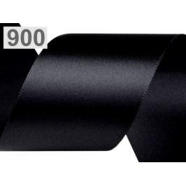 Atlasová stuha obojlíca zväzky po 5 m šírka 50 mm čierna 5m