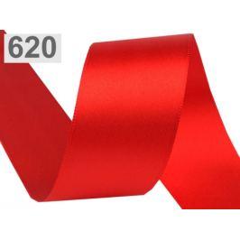 Atlasová stuha obojlíca zväzky po 5 m šírka 40 mm červená 5m