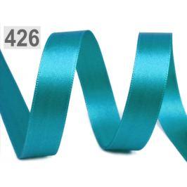 Atlasová stuha obojlíca zväzky po 5 m šírka 15 mm tyrkenit 5m