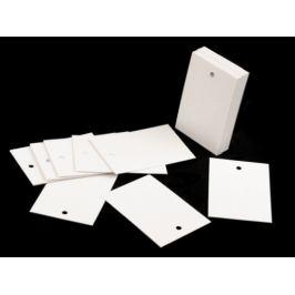 Papierová visačka / menovka 40x60 mm biela 250ks Stoklasa