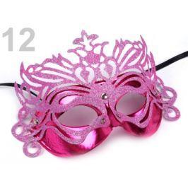 Karnevalová maska ružová neon 1ks Stoklasa