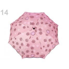 Dámsky skladací dáždnik ružová svetlá 1ks Stoklasa