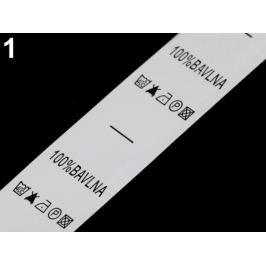 Štítky - zloženie a údržba odevov biela 1návin Stoklasa