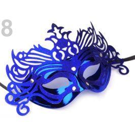 Karnevalová maska modrá kobaltová 5ks Stoklasa