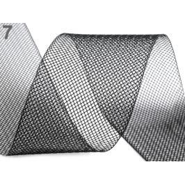 Modistická krinolína na vystuženie šiat a výrobu fascinátorov  šírka 5 cm čierna 41m Stoklasa
