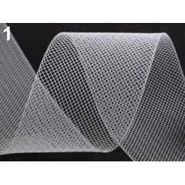 Modistická krinolína na vystuženie šiat a výrobu fascinátorov  šírka 5 cm biela 41m Stoklasa